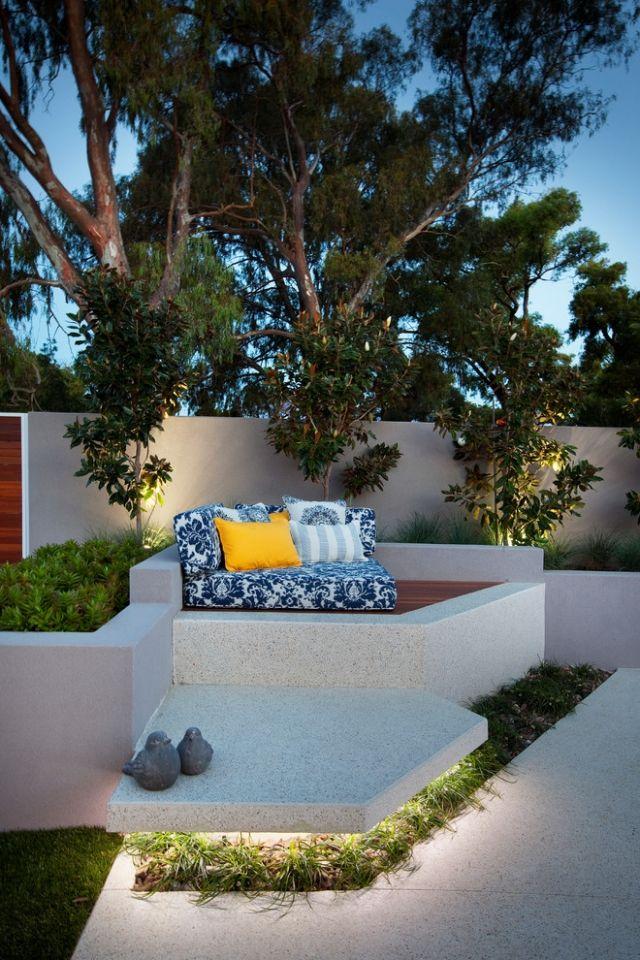 2019 indirekte beleuchtung terrasse beton sitzbank led. Black Bedroom Furniture Sets. Home Design Ideas