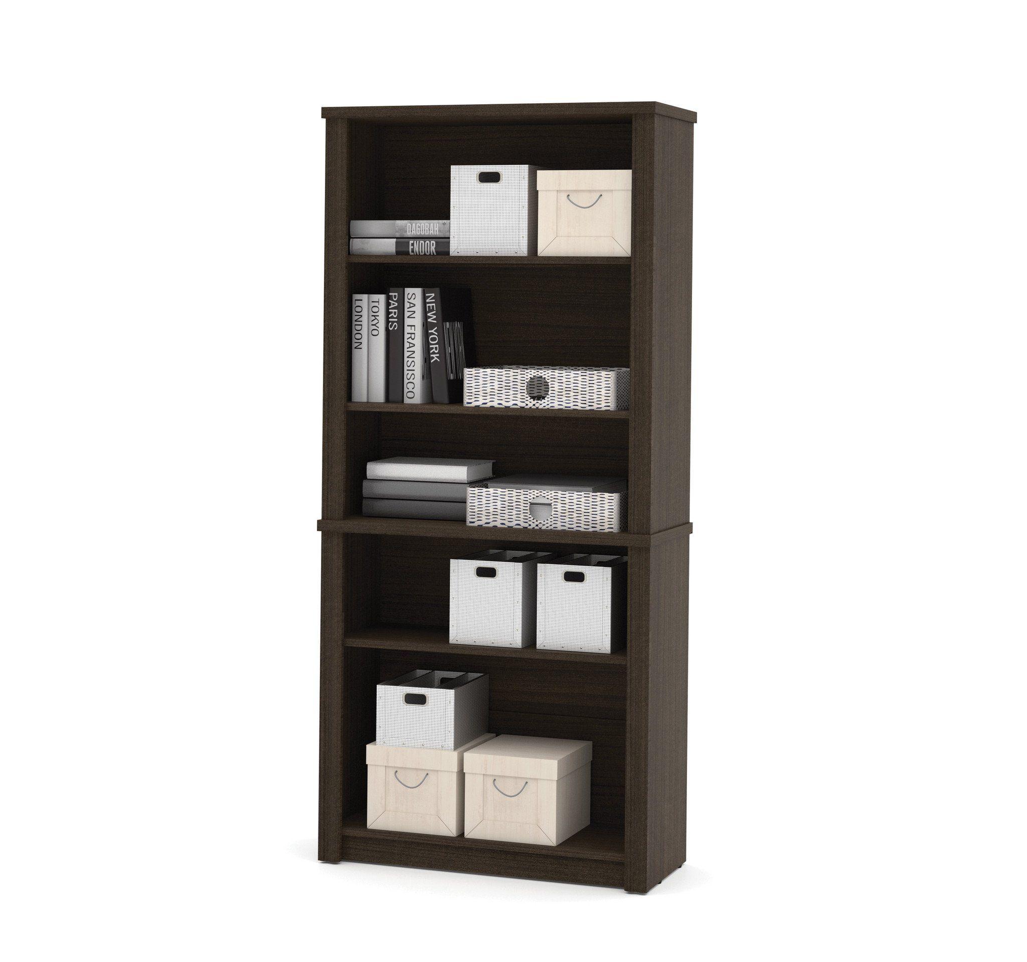 Premium Modern 71 X 76 L Shaped Desk In Dark Chocolate