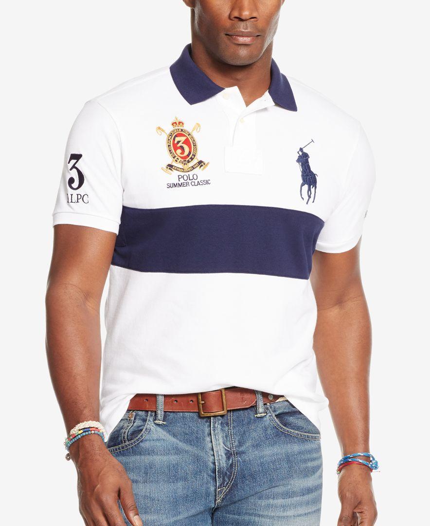 Polo Ralph Lauren Men's Big & Tall Classic-Fit Banner-Stripe Polo Shirt  $66.99