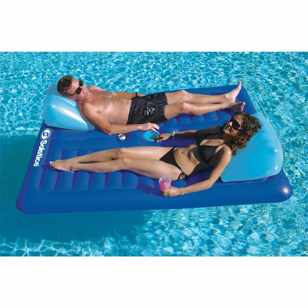 inflatable pool furniture. Inflatable Pool Lounger For Couples 2 Person Float Lake Mattress Recliner Raft\u2026 Furniture