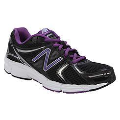 37beb4c581c7b1 New Balance Women's 490V2 Black/Purple Running Athletic Shoe - Wide Width