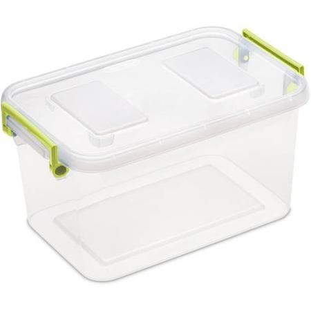 Sterilite 5.5 Quart Modular Latch Box- Bamboo Grass, Case of 6