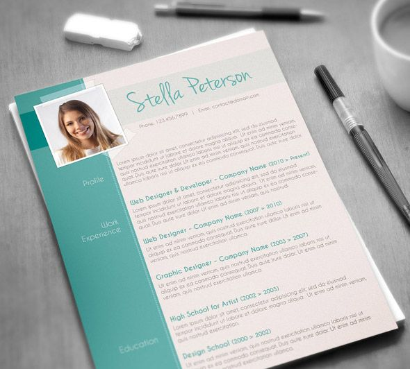 Modern CV Template Job Stuff Pinterest Modern cv template, Cv - fancy resume templates