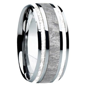 9 mm Meteorite, Mens Wedding Bands – M740FS