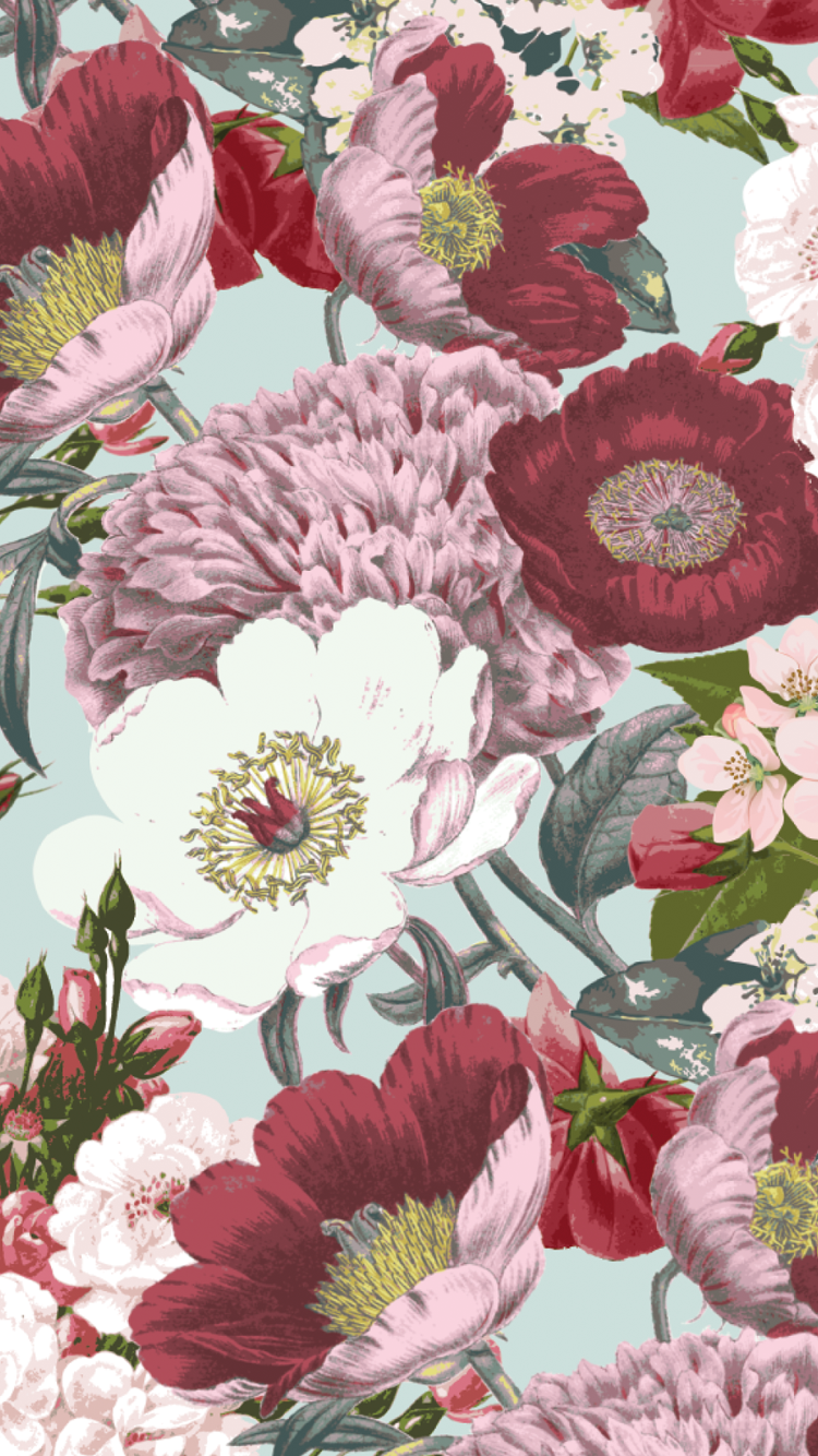 Iphone 6 wallpaper tumblr flowers - Image For Candyshell Inked By Speck Wallpaper Vintage Bouquet Boysenberry Purple Iphone And Iphone 6