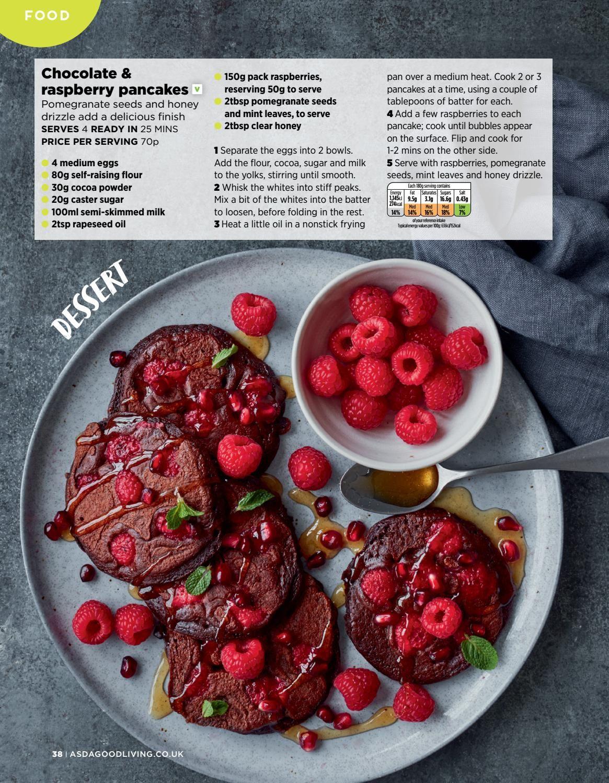Asda Good Living Magazine February 2018 Budget Friendly Recipes Recipes Raspberry Pancakes
