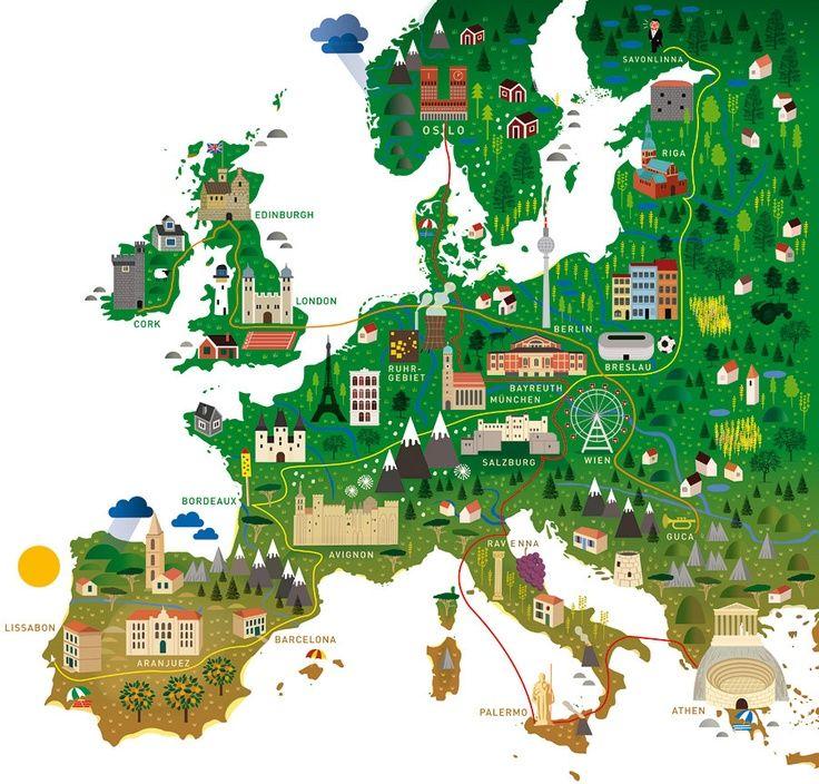 Travel Infographic Diseno Human Empire Studio Europe Map