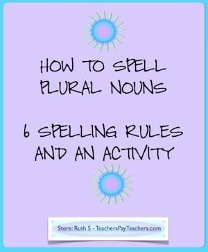 Is the plural of lady, ladys or ladies? I get a lot of these kinds of spelling questions in class!! Download my FREE plural noun chart with the six ways to make nouns plural that will help your kids improve their spelling! Also included is an activity and answer sheet.