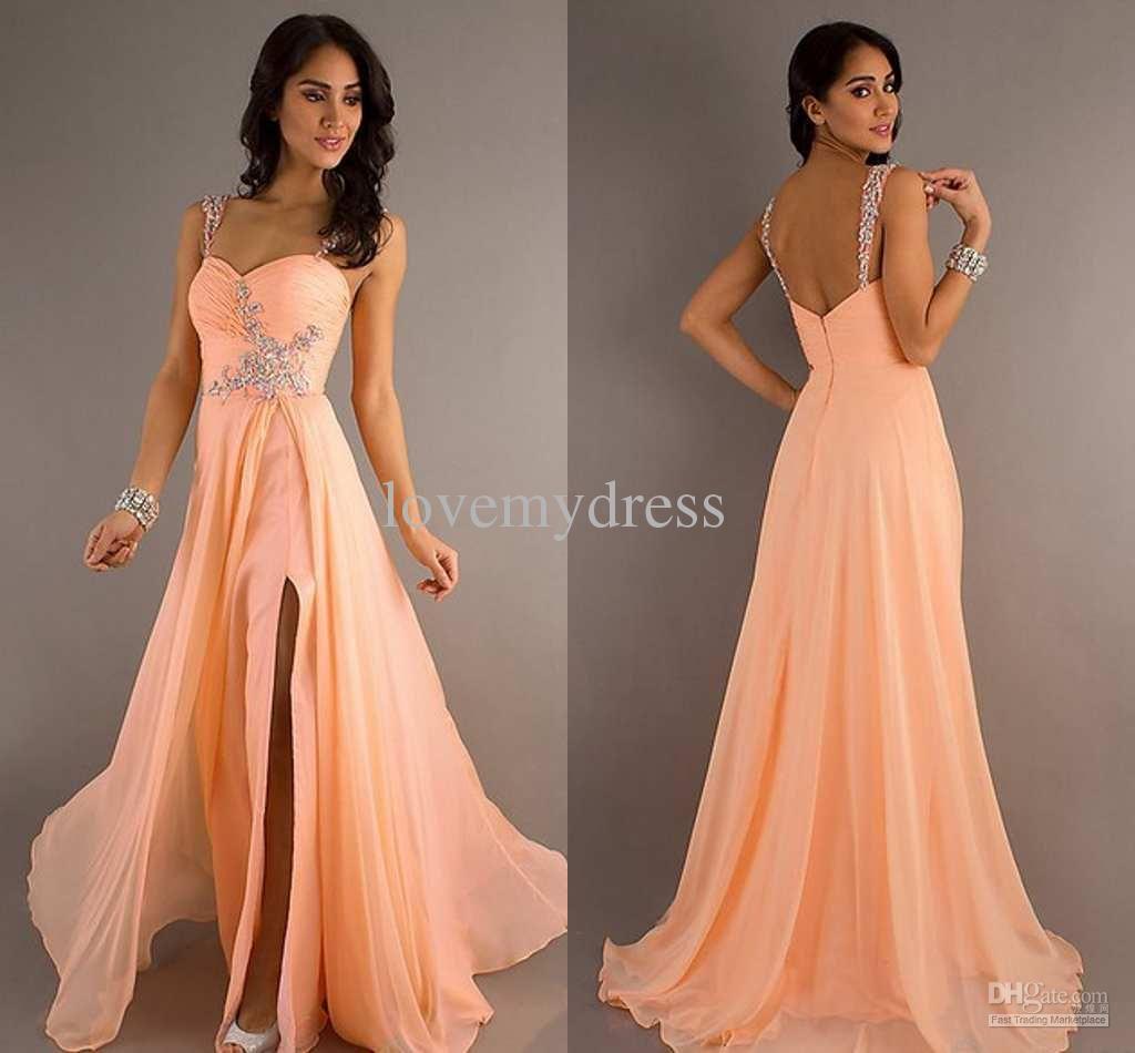 Vintage Off The Shoulder High Slits Evening Formal Dresses