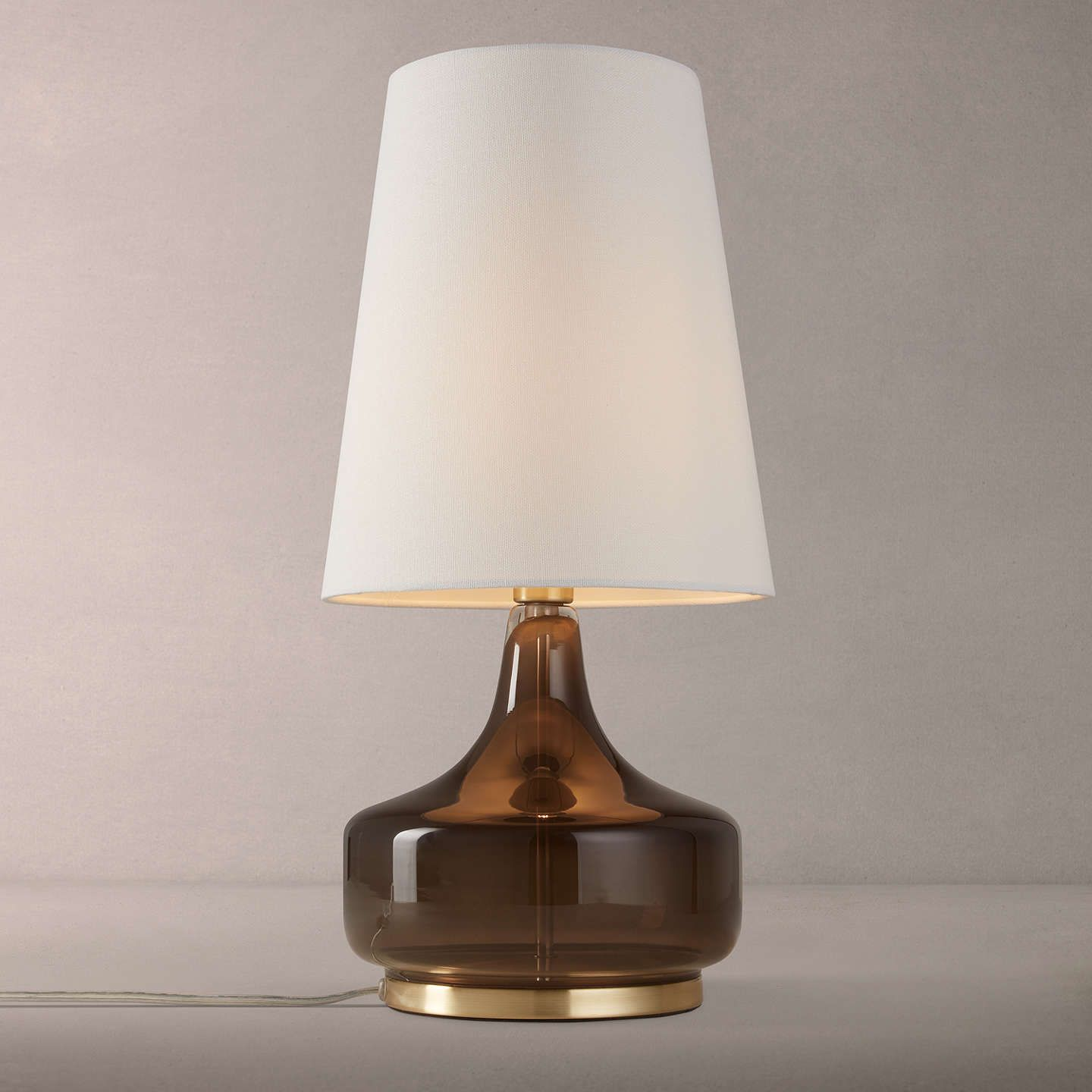 Glass Lamp John Lewis John Lewis Partners Atley Table Lamp Moss Green Light Table