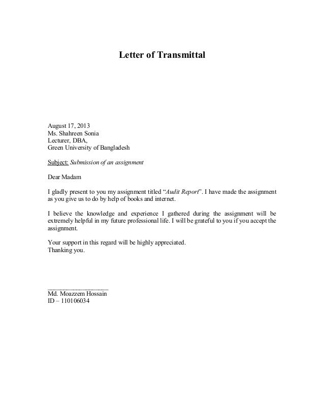 business letter assignment writing author cover example homework - example letter of transmittal
