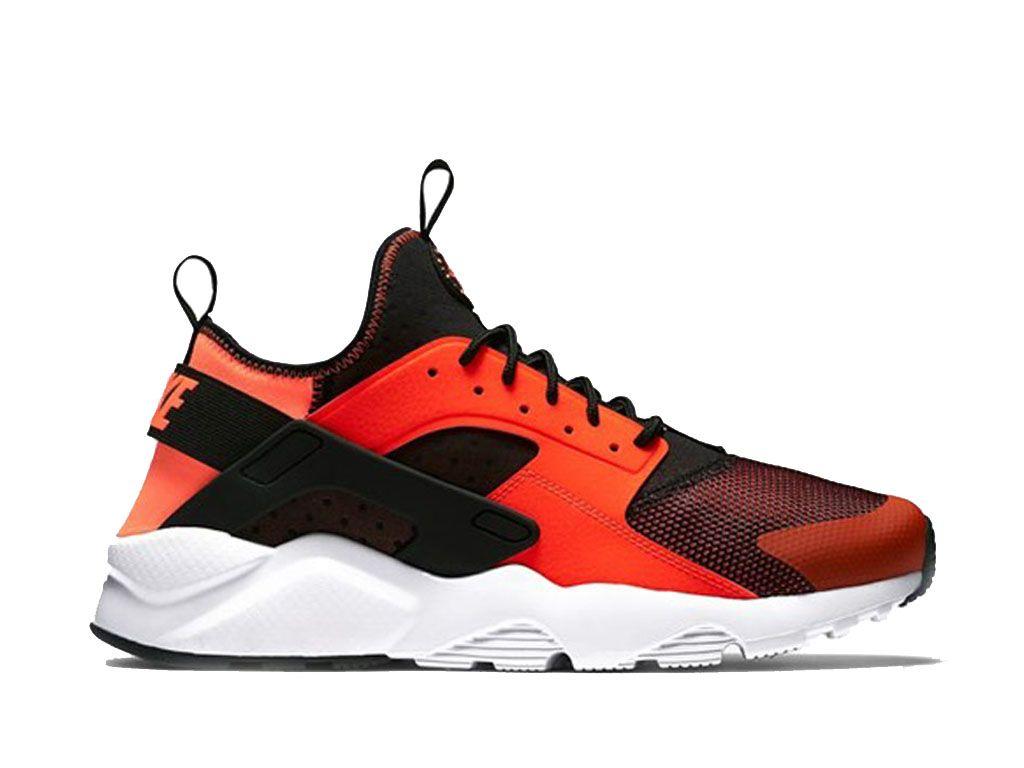 f67bfa016c34e Nouveau Chaussures De Sport Pas Cher Homme Nike Air Huarache Ultra Club  Orange Noir 819685_008