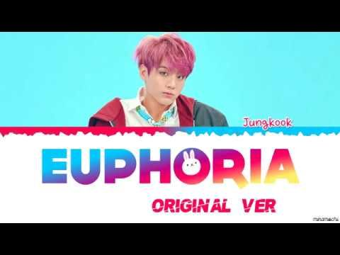  Original Ver.  BTS JUNGKOOK - EUPHORIA Lyrics [Color Coded Han_Rom_Eng]   Bts lyric. Bts jungkook. Jungkook