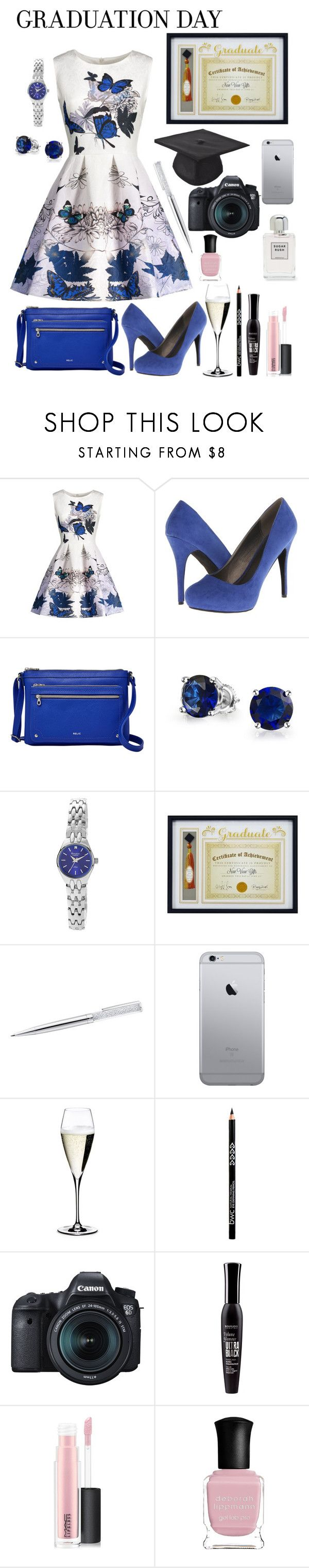 """""""Spread your Wings little Butterfly"""" by lexisamskywalker on Polyvore featuring Michael Antonio, Relic, Bling Jewelry, Armitron, New View, Riedel, Eos, Bourjois, MAC Cosmetics and Deborah Lippmann"""