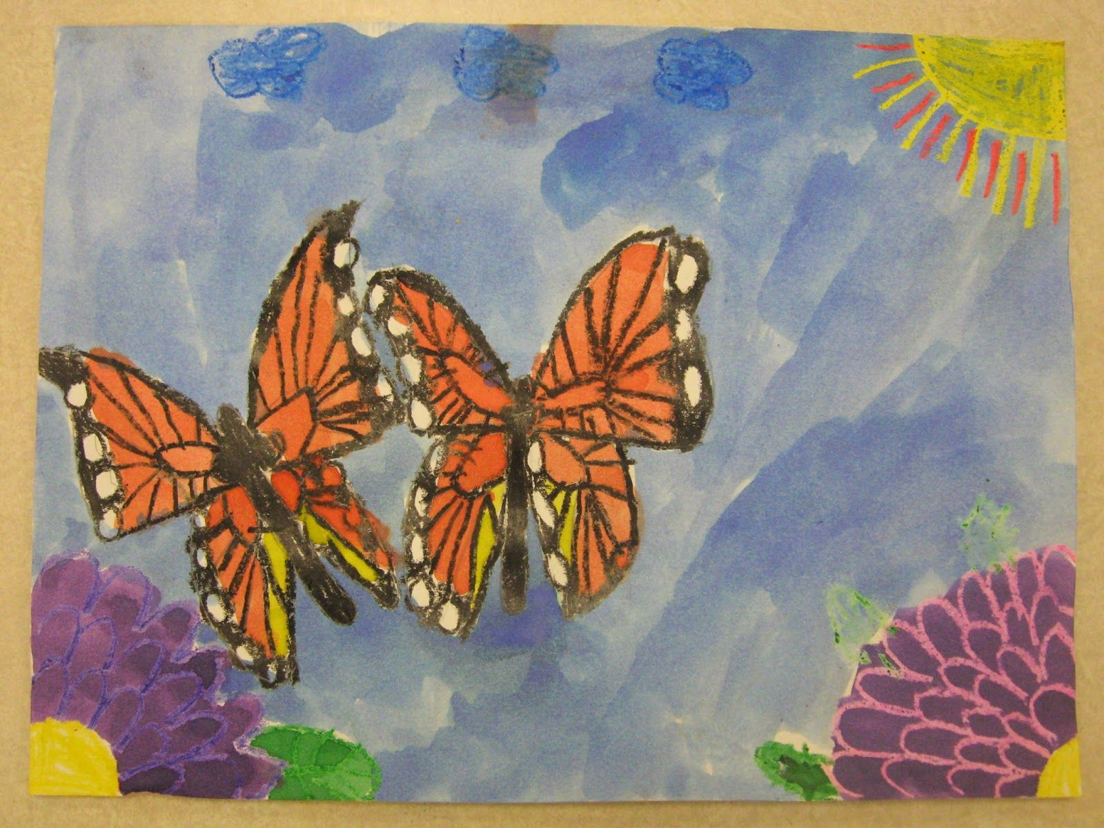 Miss Young S Art Room 1st Grade Monarch Butterflies