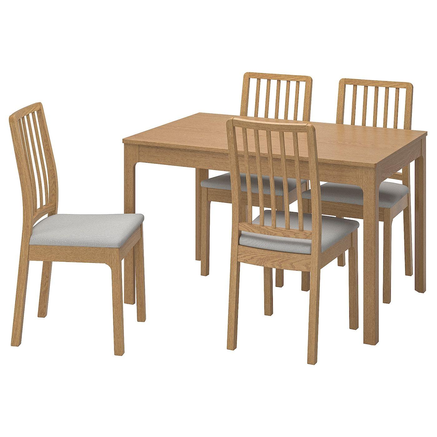 Ekedalen Ekedalen Tisch Und 4 Stuhle Eiche Orrsta Hellgrau