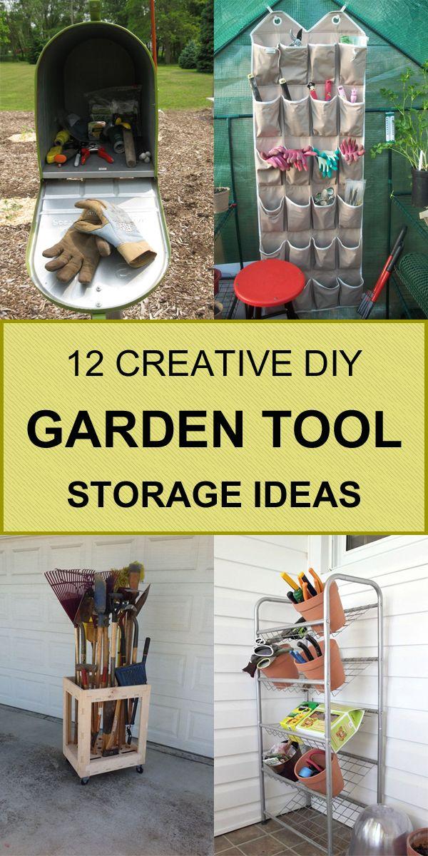 12 Creative DIY Garden Tool Storage Ideas #gardeningtools