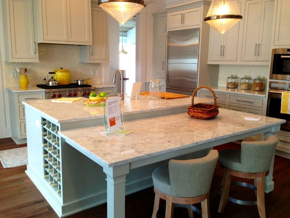 Shaped Kitchen Island Dining Table Modern Home Design And