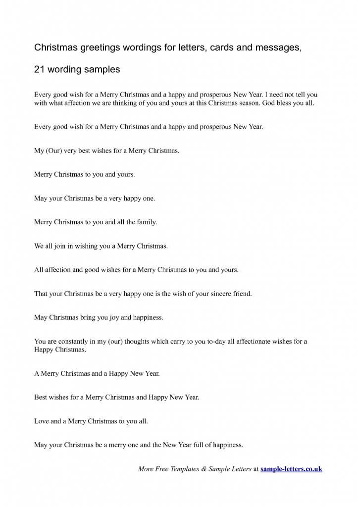Christmas greetings wordings for letters cards and messages 21 ...