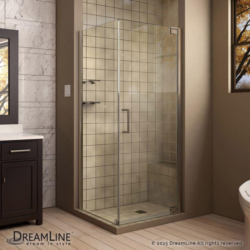 Dreamline Shen 4130321 Elegance 72 High X 32 Wide X 30 Deep Pivot Frameless S Corner Shower Enclosures Shower Enclosure Frameless Shower Enclosures