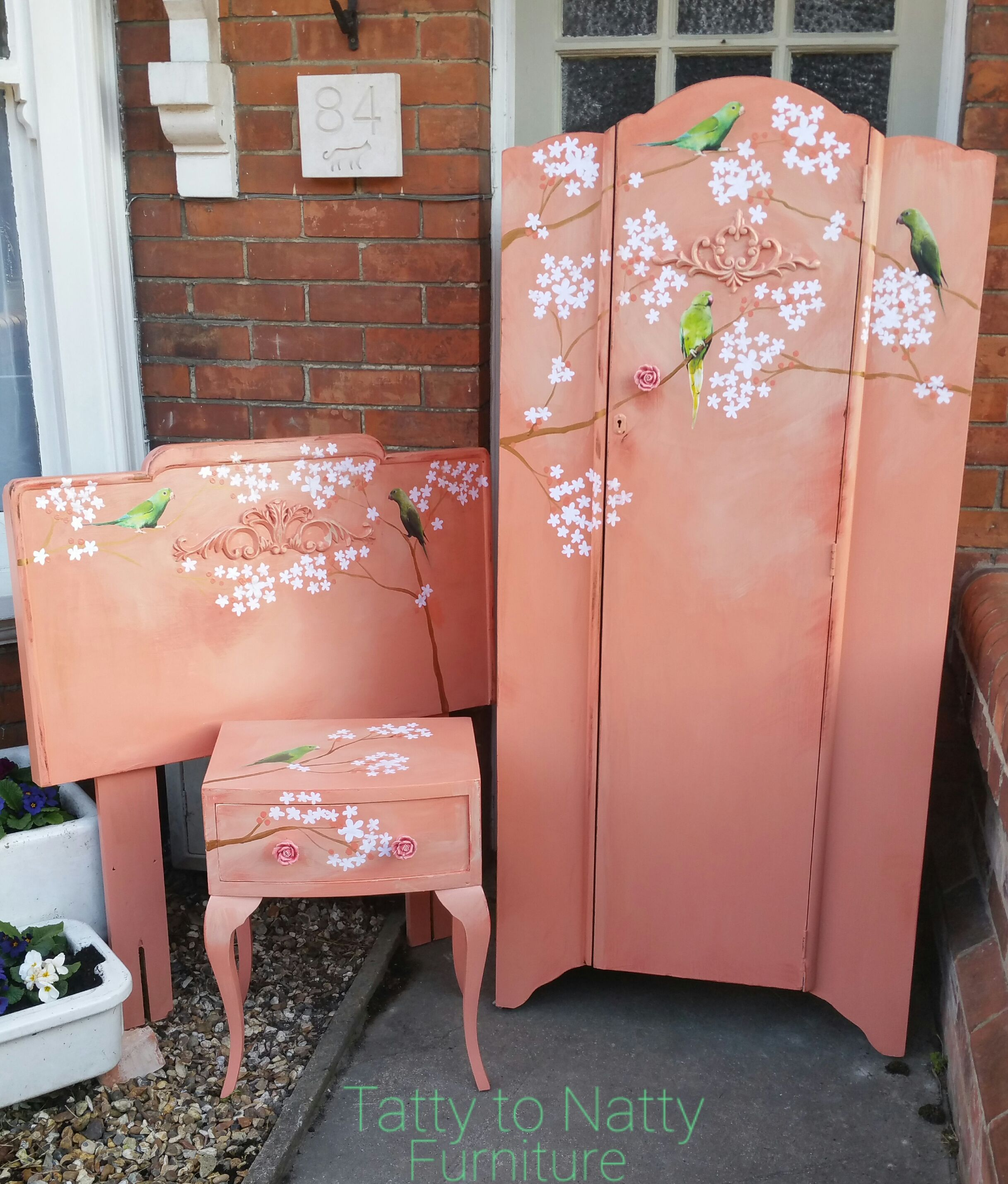 shabby chic childrens bedroom furniture. Painted Vintage Furniture Set For Girls Nursery Bedroom Wardrobe, Headboard With Shabby Chic Moulding And Childrens R