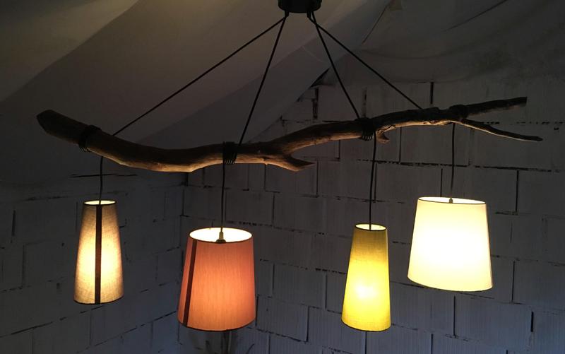 Badezimmerlampe Decke ~ Treibholz lampe schwemmholz lampe 4 flammig