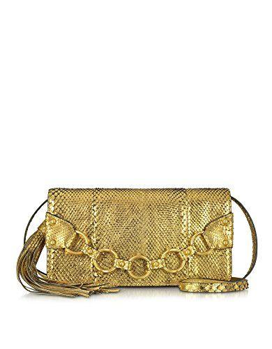 c2169b68d39e ROBERTO CAVALLI Roberto Cavalli Women S Dkb812Uc16505559 Gold Python Skin  Clutch.  robertocavalli  bags  shoulder bags  clutch  hand bags