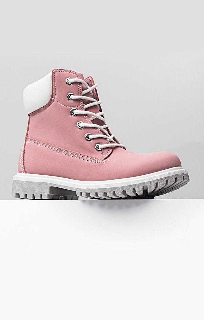Trapery Trista Fashion Rozowe Buty Damskie Trekkingowe Trapery Buty Damskie Botki Botki Sznurowane Buty Damskie Botki Boots Timberland Boots Fashion