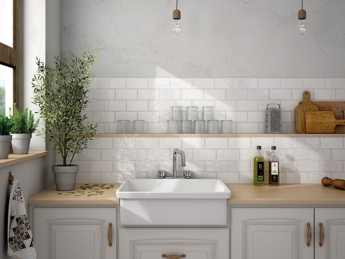 Traditional rustic kitchen wall tiles from Solus Ceramics. | Home ...