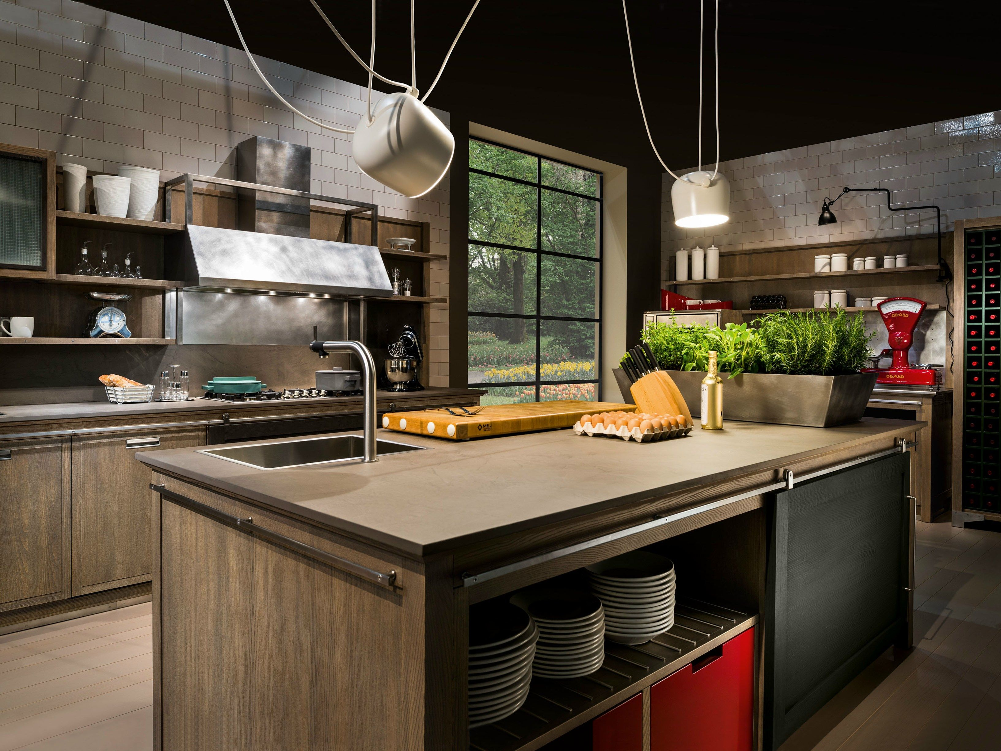 Cucina in frassino con isola INDUSTRIAL CHIC by L\'Ottocento | houses ...