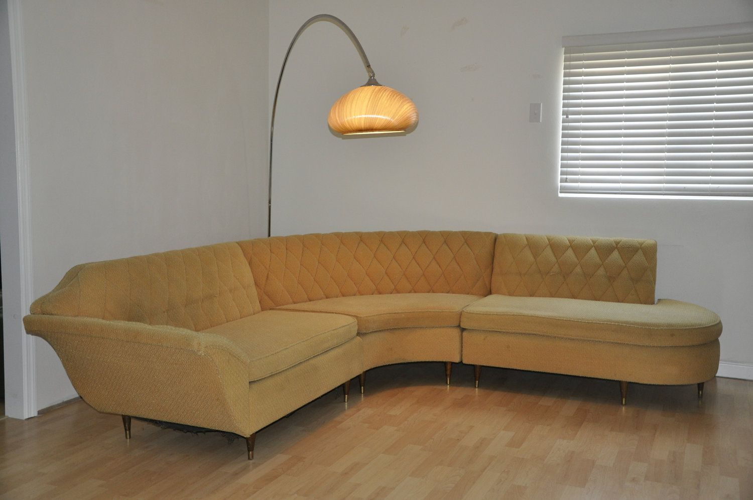 Mid Century Modern Tweed Sectional Sofa. $1,250.00, Via Etsy. Such Great  Lines!