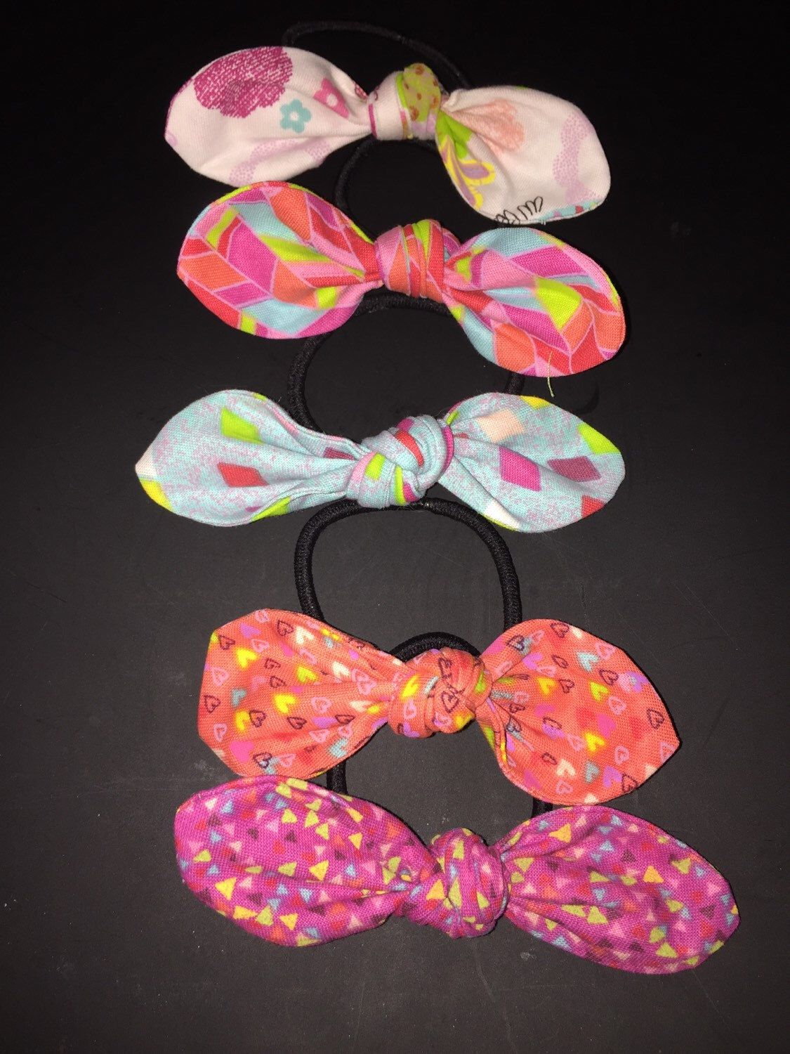 A personal favorite from my Etsy shop https://www.etsy.com/listing/249085355/hair-bow-hair-ties