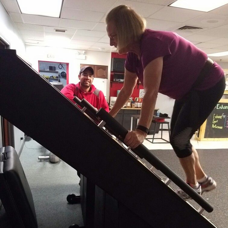 #Conditioning on the #jacobsladder  #Private #lessons with #personal #trainer Mike Padua 312-401-1169 available at #enhancefitnessstudio in #countrysideillinois  or visit www.enhancefitnessstudio.com