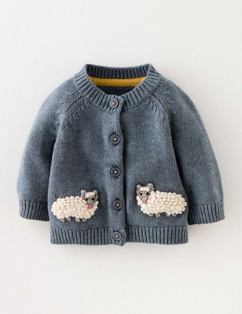 43f1cc79d Baby Boden Sheep Cardigan in Sail Blue Marl/Sheep (BLU) - Give your little  explorer the ultimate farmyard disguise with this supersoft cotton-wool  blend ...
