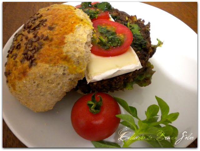 Hamburger vegetariano assado