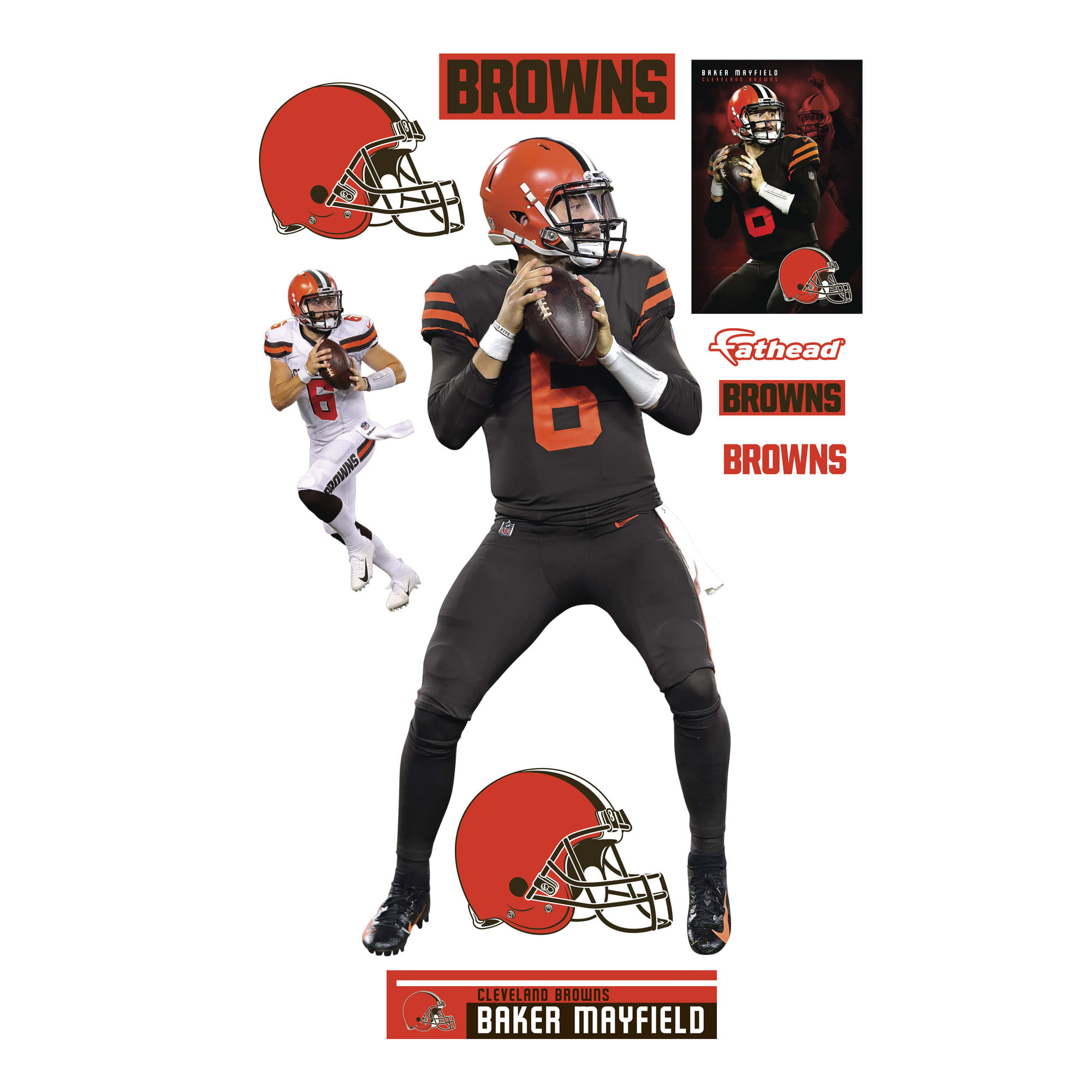 online store a4420 59f9c Baker Mayfield: Color Rush - Life-Size Officially Licensed ...