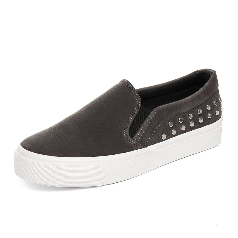 Fashion Women's Breathable PU Leather Tennis Sneaker Loafer Slip On Casual Shoes