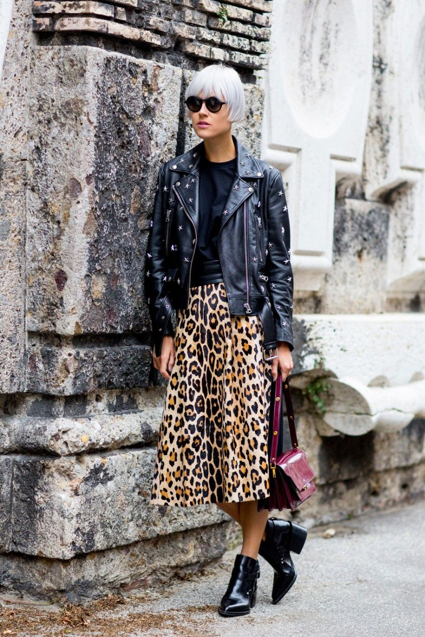 comprare popolare 1d60e cabed Fashion trend: la gonna midi leopardata | Outfits | Stili di ...