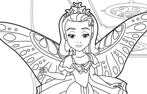 Coloring Sofia the First Christmas Coloring Book Page Prismacolor ... | 300x470