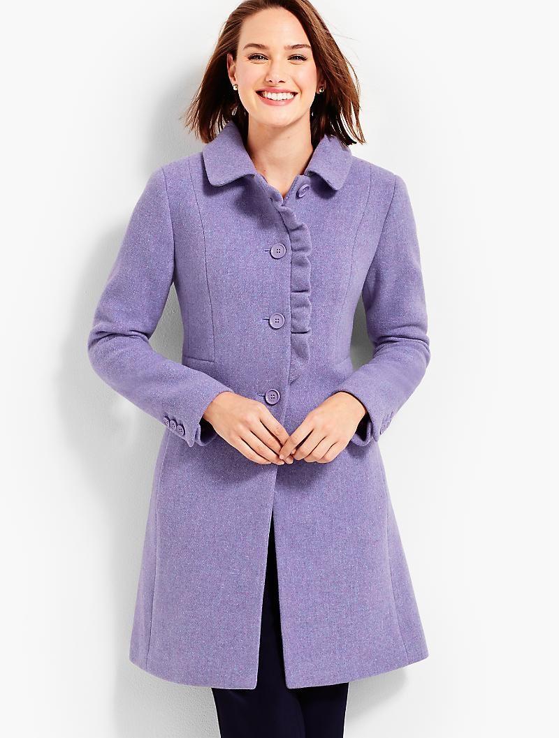 Albury Wool Ruffle Coat Talbots Coats For Women Fashion Top Clothing Brands [ 1057 x 800 Pixel ]
