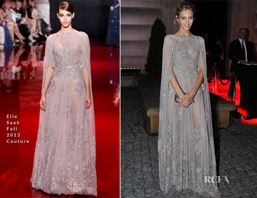 Anja Rubik In Elie Saab Couture Apart Anniversary Celebrity DressesCelebrity