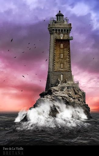 La Vieille is a lighthouse in the département of Finistère at the commune of Plogoff, on the northwest coast of France.