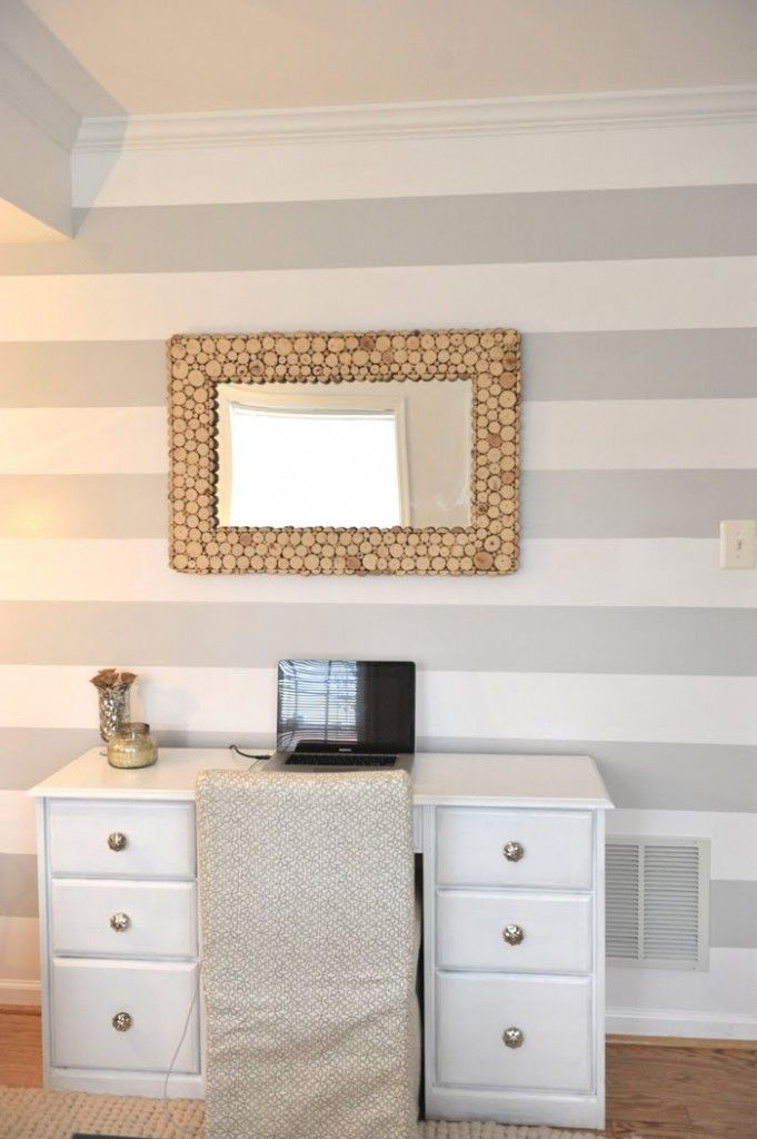 contrast two tones colors painting walls with horizontal On horizontal striped wall paint ideas