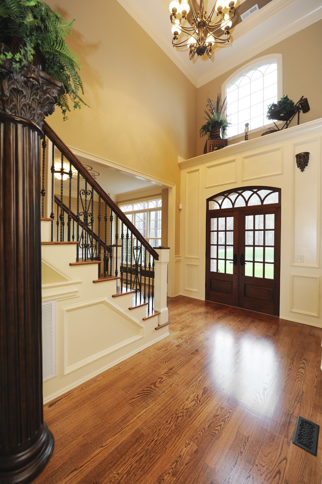 decorating a two story foyer ledge - Google Search | Hall ...
