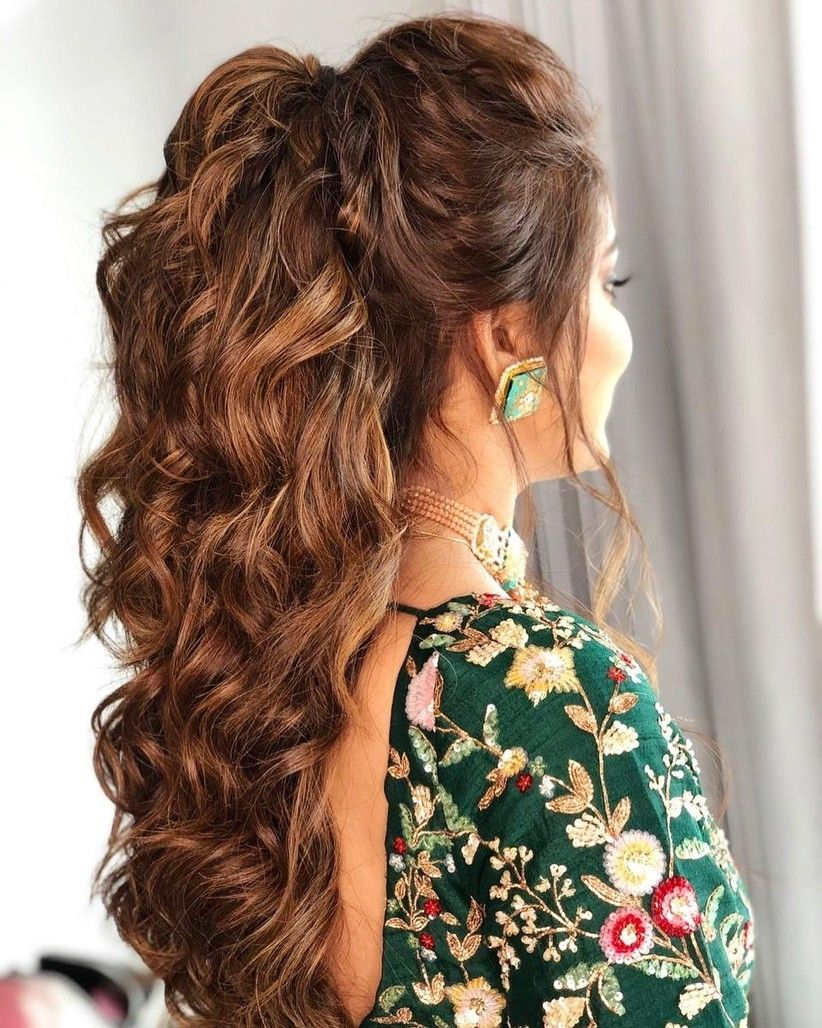 26 Populer Indian Wedding Hairstyle Step By Step In 2020 Indian Wedding Hairstyles Cute Ponytail Hairstyles Hair Styles