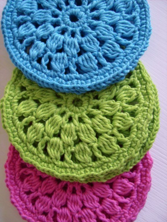 Easy Crochet Pattern For Home Round Coasters Pdf Crochet Pattern