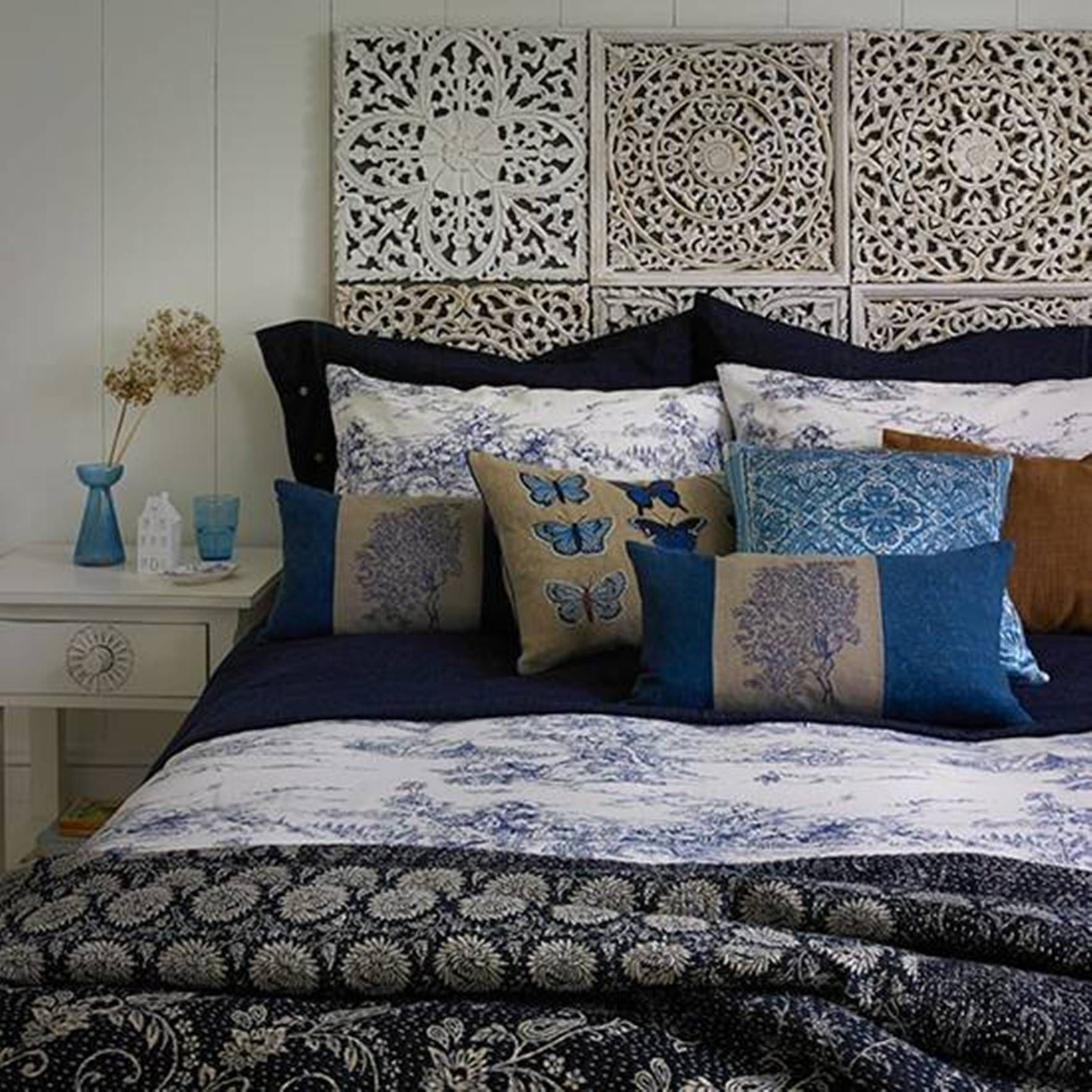 home design and decor , decorating beds without headboards design