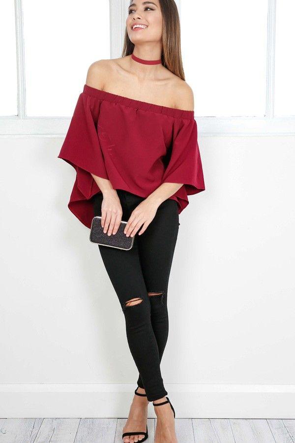 ce2a1fbec75a8 Plus Size Raglan Sleeve Lace Up Top - Black And Purple 5xl