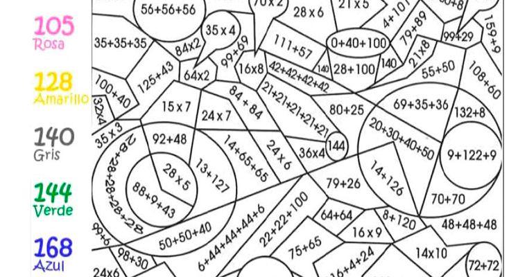 Id Mparam Ejer Color Op Basicas Actividades De Matematicas Matematicas Para Colorear Reporte De Lectura