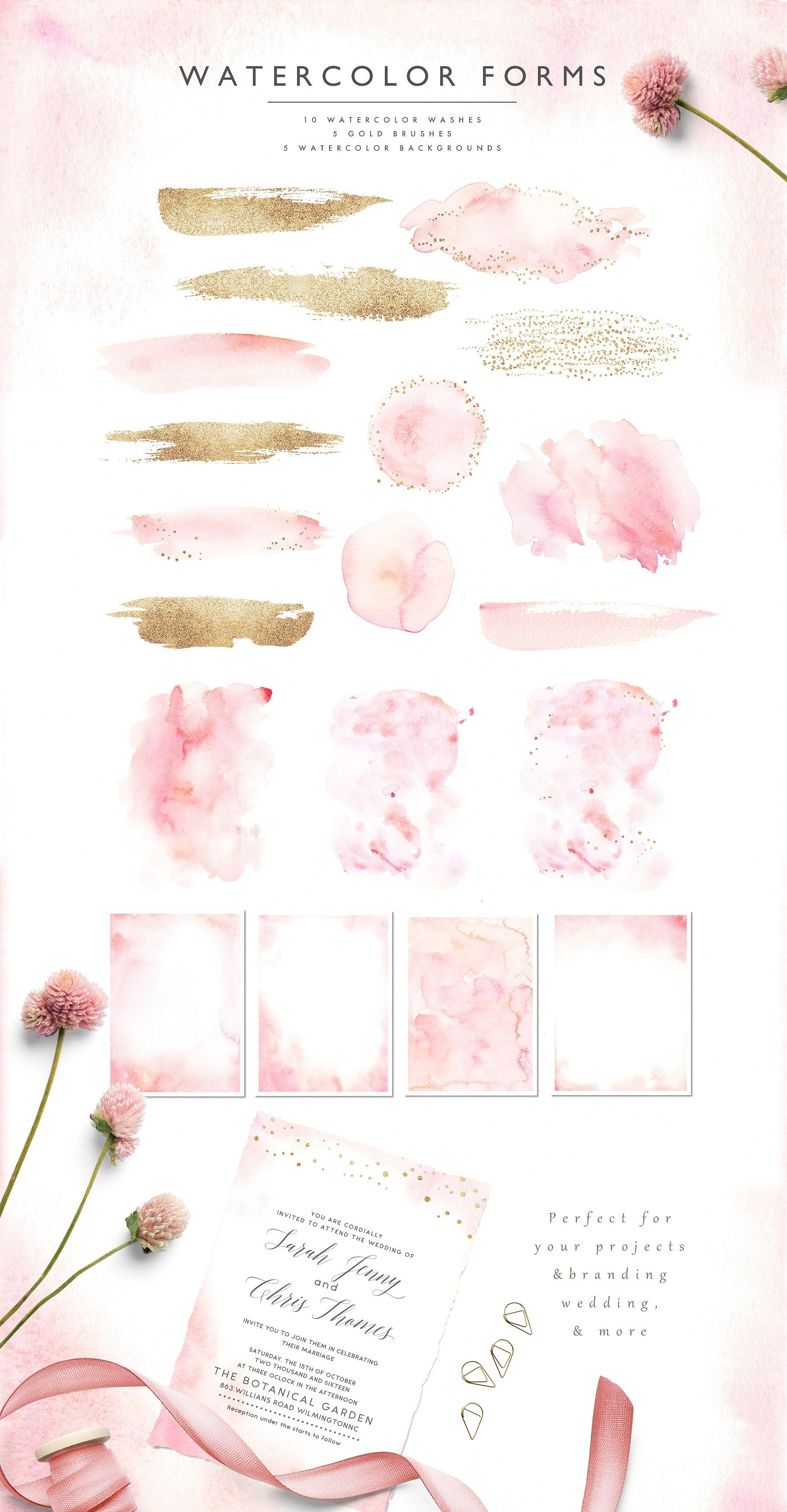 Ethereal blushflorals graphic set graphic resources pinterest